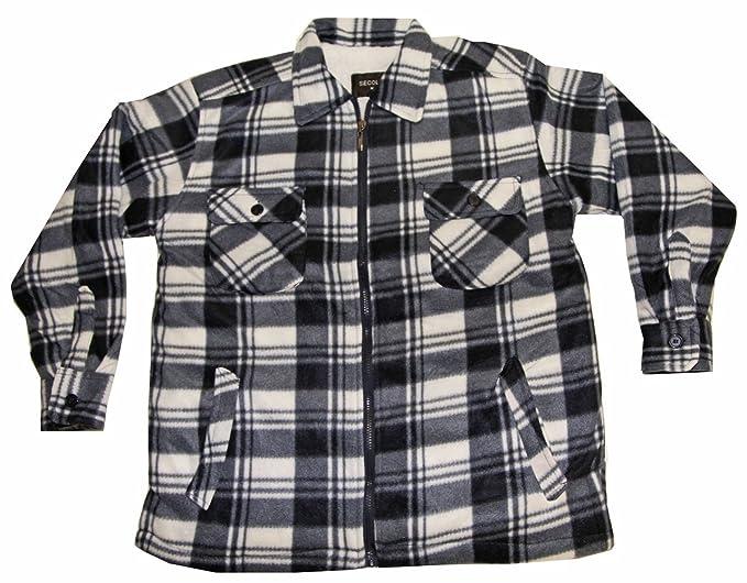 Veste chemise a carreaux homme