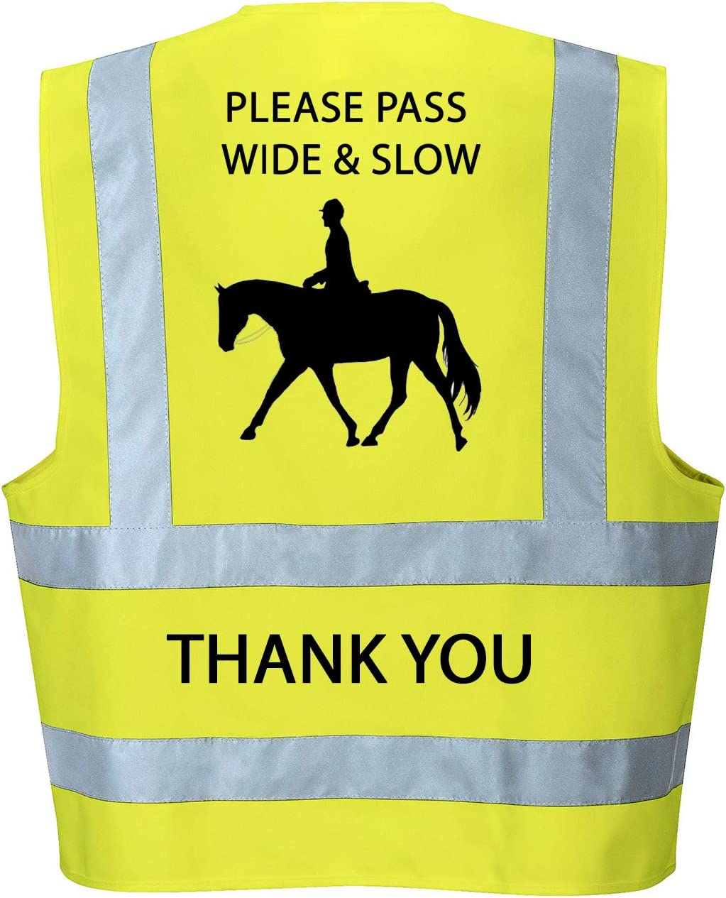 Adult Large 44//46, Orange Hi Vis Viz High Visibility Reflective Vest Horse Riding Equestrian Safety Vest