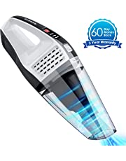 NOVETE Handheld Vacuums Cordless, Upgraded Detachable Battery Tech 7KPa 100W Power Suction Hand Car Vac, 14.8V Up to 30 Mins Wet Dry Use with LED Battery Indicator, Lightweight & Portable