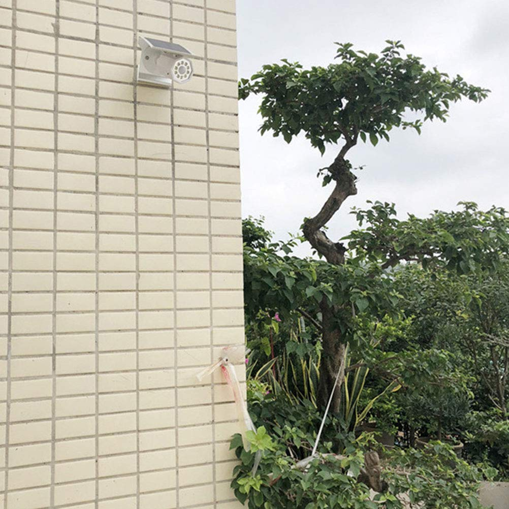 LEDMOMO Luces de seguridad del sensor de movimiento, luces de sensor de luz LED con sensor solar, cámaras de vigilancia, lámpara CCTV (blanco): Amazon.es: ...