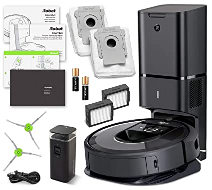 iRobot Roomba i7+ (7550) Robot Vacuum Bundle with Automatic Dirt Disposal- Wi-