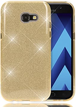 NALIA Purpurina Funda Compatible con Samsung Galaxy A5 2017, Carcasa Protectora Movil Silicona Ultra-Fina Glitter Bumper Estuche, Lentejuela Cubierta Ligera Delgado Cover Slim Case, Color:Gold Oro: Amazon.es: Electrónica