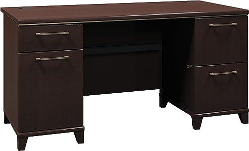Bush Business Furniture Enterprise Collection 60W Double Pedestal Desk