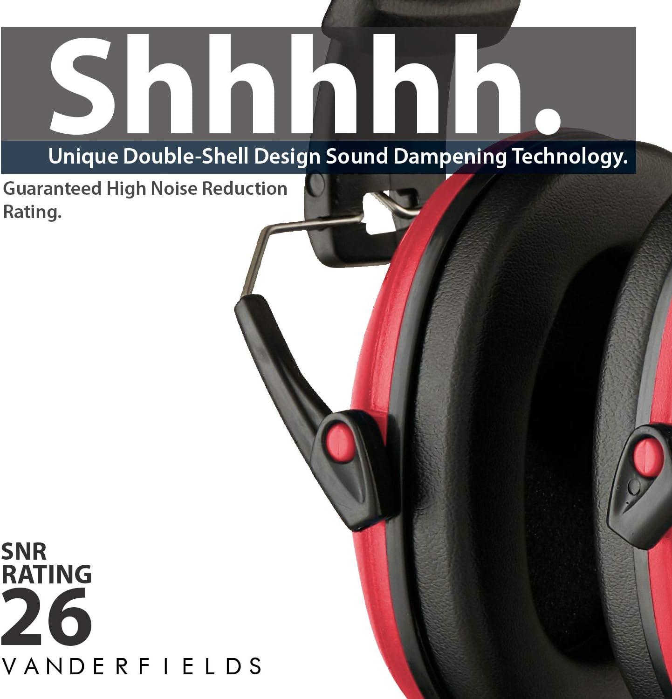 Parfait pour la chasse /à la pelouse pour les hommes et les femmes adultes Cache-oreilles de s/écurit/é pour bloquer la r/éduction du son noir Protection auditive compacte et pliable pour le tir