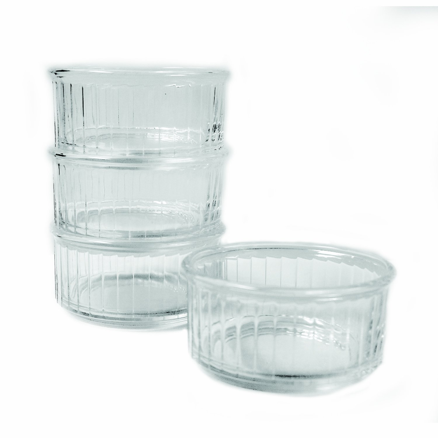 Duralex Made In France 4-Ounce Glass Ramekin, Set of 4 5009AC04/4