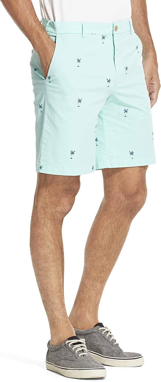 IZOD Mens Saltwater Stretch 9.5 Chino Printed Shorts