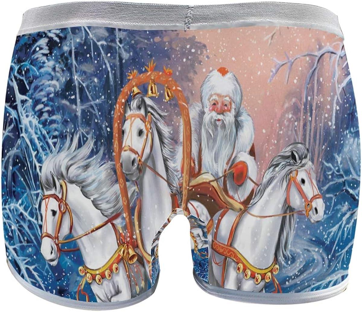 Bragas Tipo bóxer de 3 Caballos rusos con Santa Rides in ...
