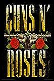 Artangle Paper Bravado Guns N Roses Two Guns Poster (Small, 12x18 Inch)