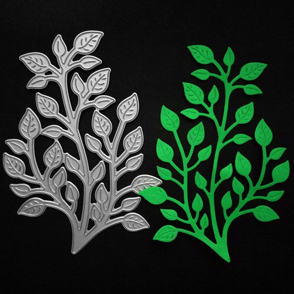 Seaweed Plant Dies 2.9 by 3.7 Inch Flower Leaves Metal Cutting Dies Christmas Craft Dies #10