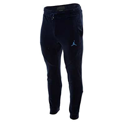 7a544a382fc974 Jordan Men s Sportswear Velour Pants Midnight Navy University Blue (Medium)