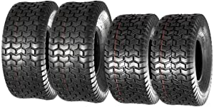 MaxAuto Lawn Mower Turf Tires 15x6-6 Front & 20x8-8 Rear 4PR(2 Front Tires+2 Rear Tires)