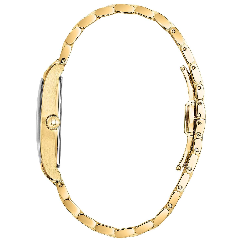 Bulova Gold Tone Quartz Movement Dress Watch Model 97M116