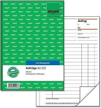 Sigel Auftrag A5 Au525