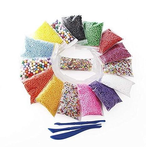 Slime Supplies Kit de cuentas decorativas delgadas para manualidades, adelgazamiento casero, flor de frutas