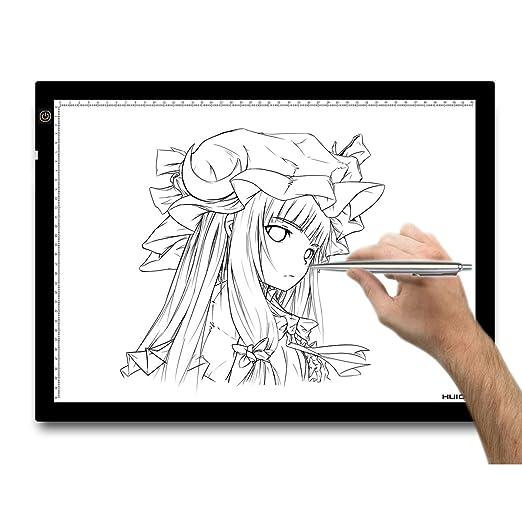 288 opinioni per Huion® A3 Tavoletta luminosa 48x36cm con luce regolabile. Per disegnare contorni
