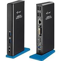 i-tec USB 3.0 Station d'Accueil 1x HDMI 1x DVI-I 1x GLAN Ethernet 2x USB-A 3.0 incl. 1x Charge Rapide 4x USB 2.0 1x USB-B 3.0 1x Audio/Mic pour Windows MacOS ChromeOS Linux Android