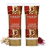 Vaadi Herbals Value Chandan Kesar Haldi Fairness Face Pack, 120g x 2