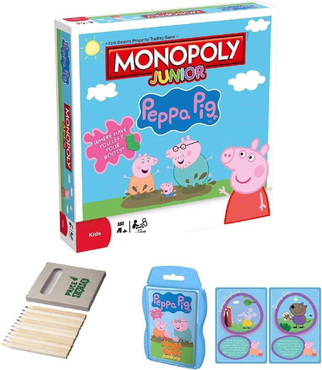 Price Toys Peppa Pig Monopoly Junior y Tarjeta Top Trumps - Peppa Pig Gift Set (Monopoly / Top Trumps): Amazon.es: Juguetes y juegos