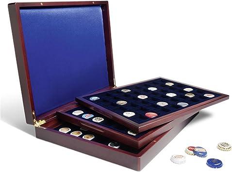 Leuchtturm 318022 Estuche para Monedas VOLTERRA Trio de Luxe, Cada una para 48monedas de 30mm+Placas de Cava: Amazon.es: Juguetes y juegos