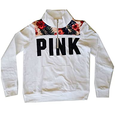 1f86dc0f Image Unavailable. Image not available for. Color: Victoria's Secret PINK  Perfect Quarter Zip Pullover ...