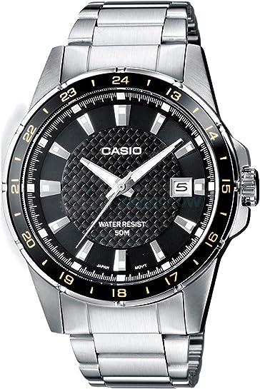 Casio orologio analogico al quarzo uomo con cinturino in acciaio inox MTP-1290D-1A2VEF
