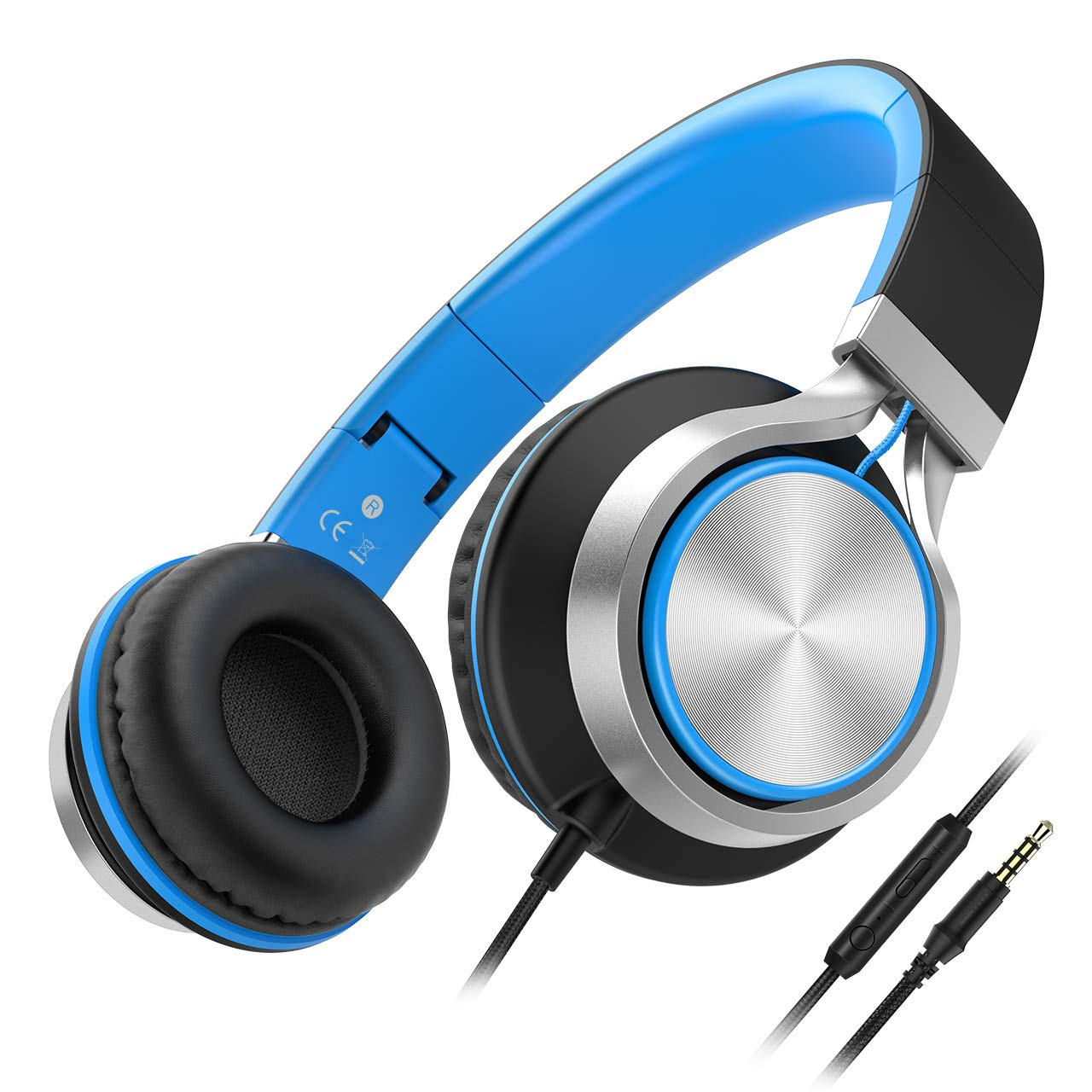 Auriculares Con Cable Besom i77 Best Stereo Plegable Headband Headset con Microfono y Volume Control Over-Ear Earphones