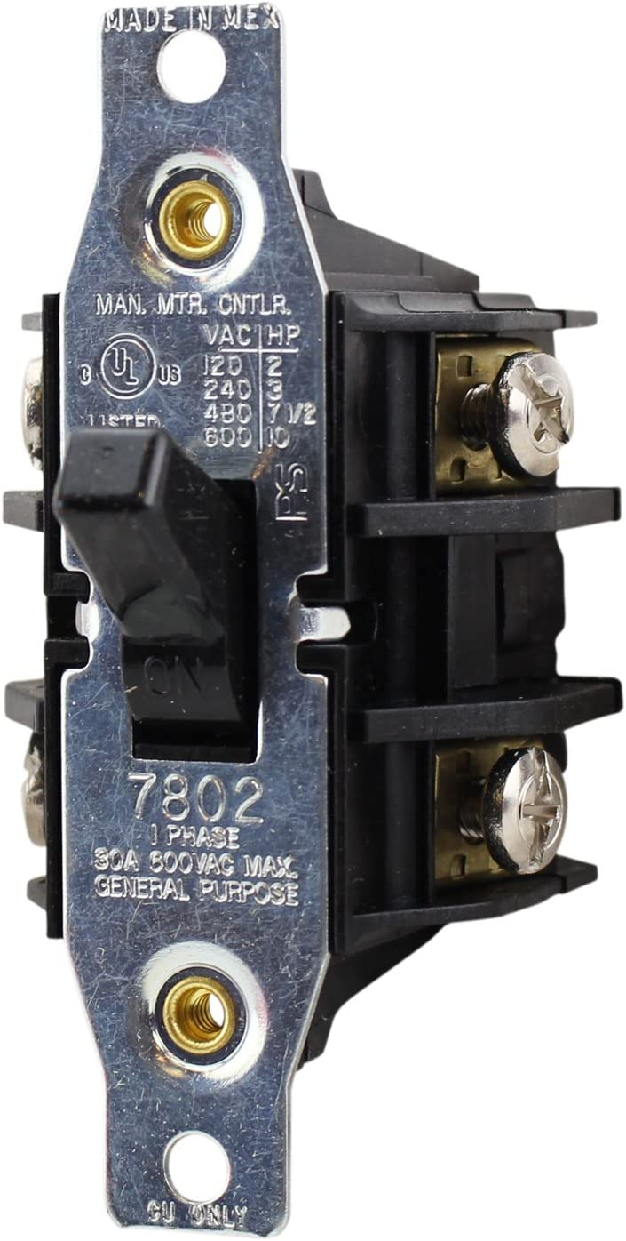 Relays SINGLE PHASE 30A 600VAC 10HP MANUAL MOTOR CONTROLLER DOUBLE ...