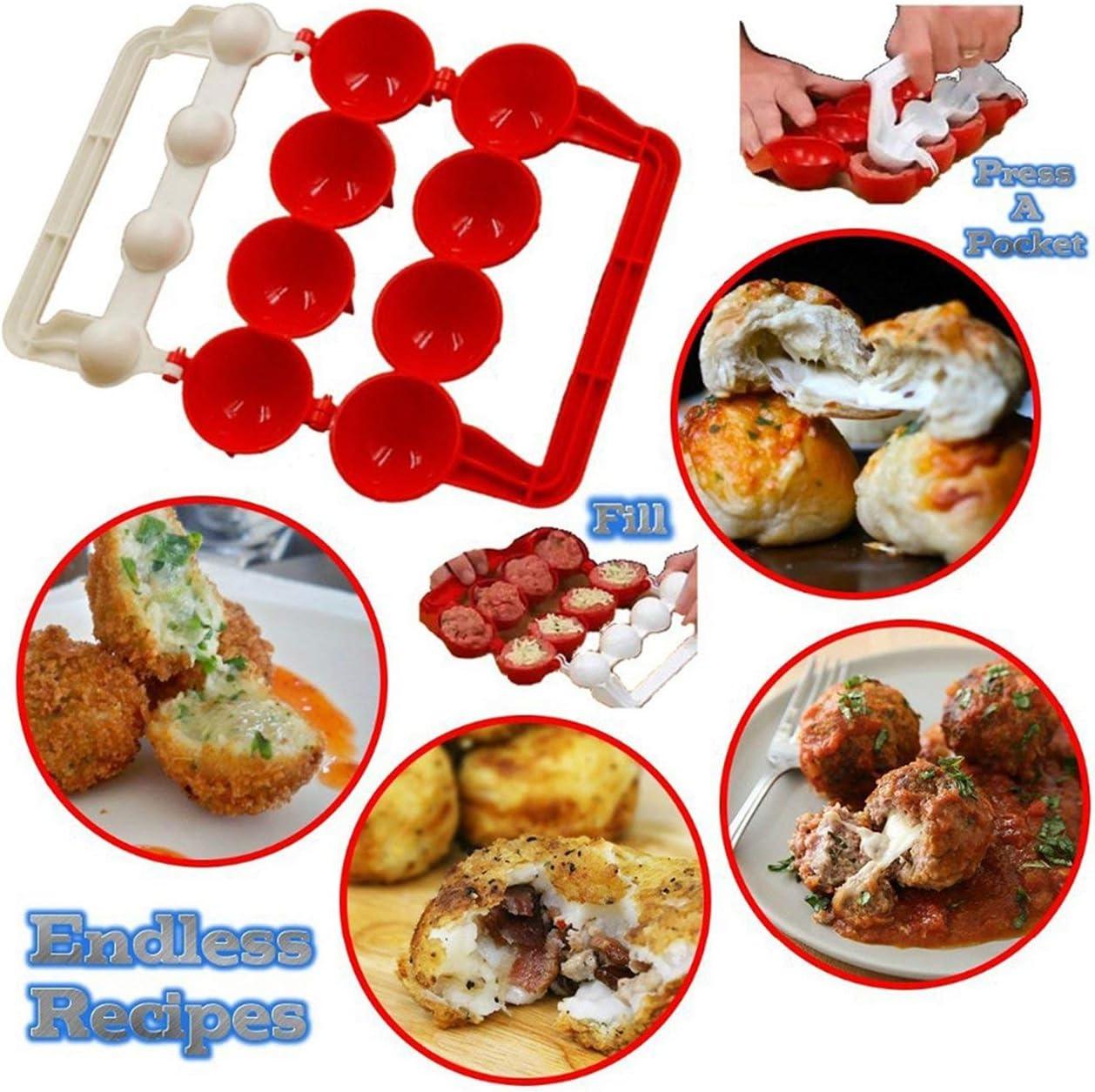 Tv Product Newbie Meatballs Fish Ball Maker Kitchen Tools Homemade Stuffed Meatball Fish Ball Hamburger Maker Mold red Jasnyfall
