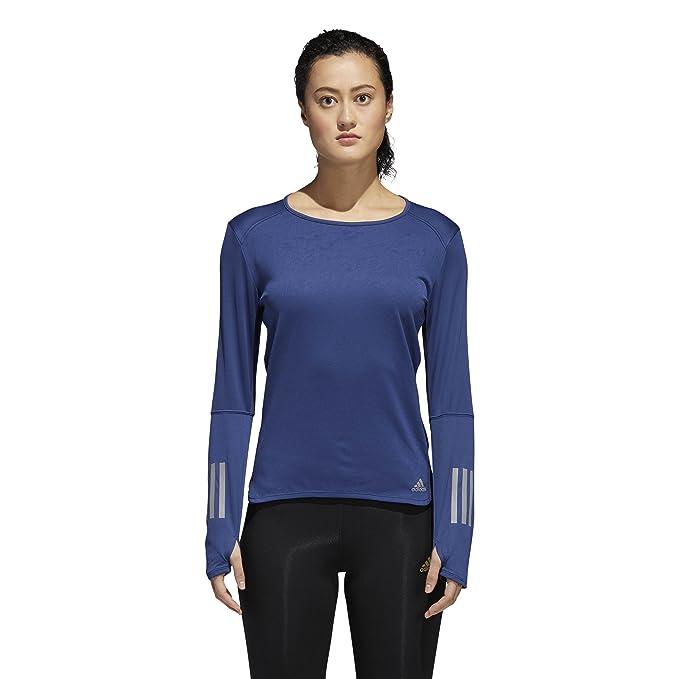 58174c306eb adidas Women's Running Response Long Sleeve Tee, Noble Indigo, X-Small