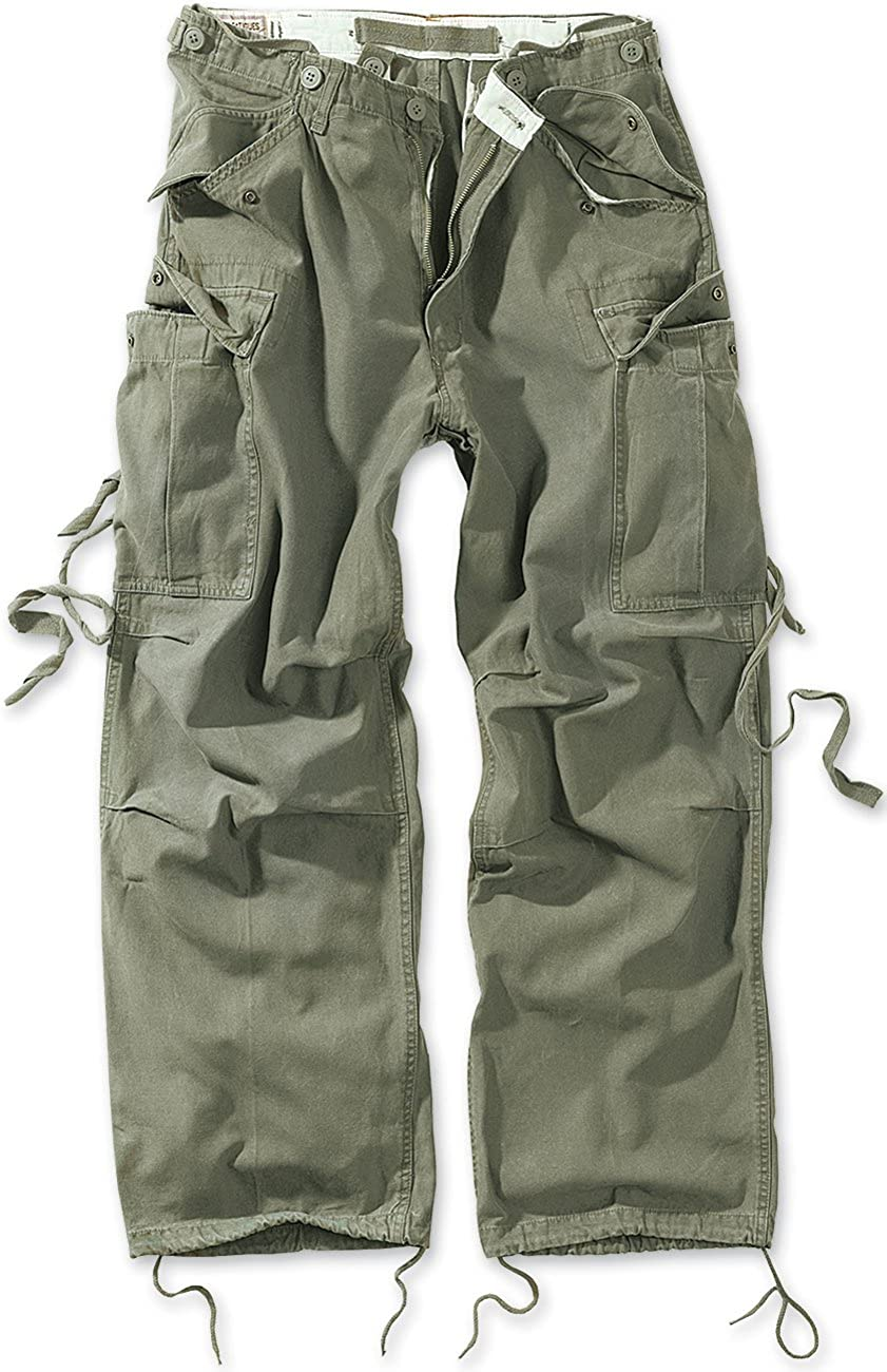 Surplus Vintage Fatigues Trousers Black Camo
