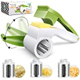 MASTERTOP Cheese Grater- Rotary Grater- Mini Vegetable Slicer, 3 in 1 Stainless Steel Drum for Hard Cheeses, Chocolate…