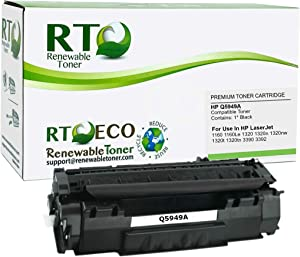 Renewable Toner Compatible Toner Cartridge Replacement for HP 49A Q5949A LaserJet 1160 1320 3390 3392