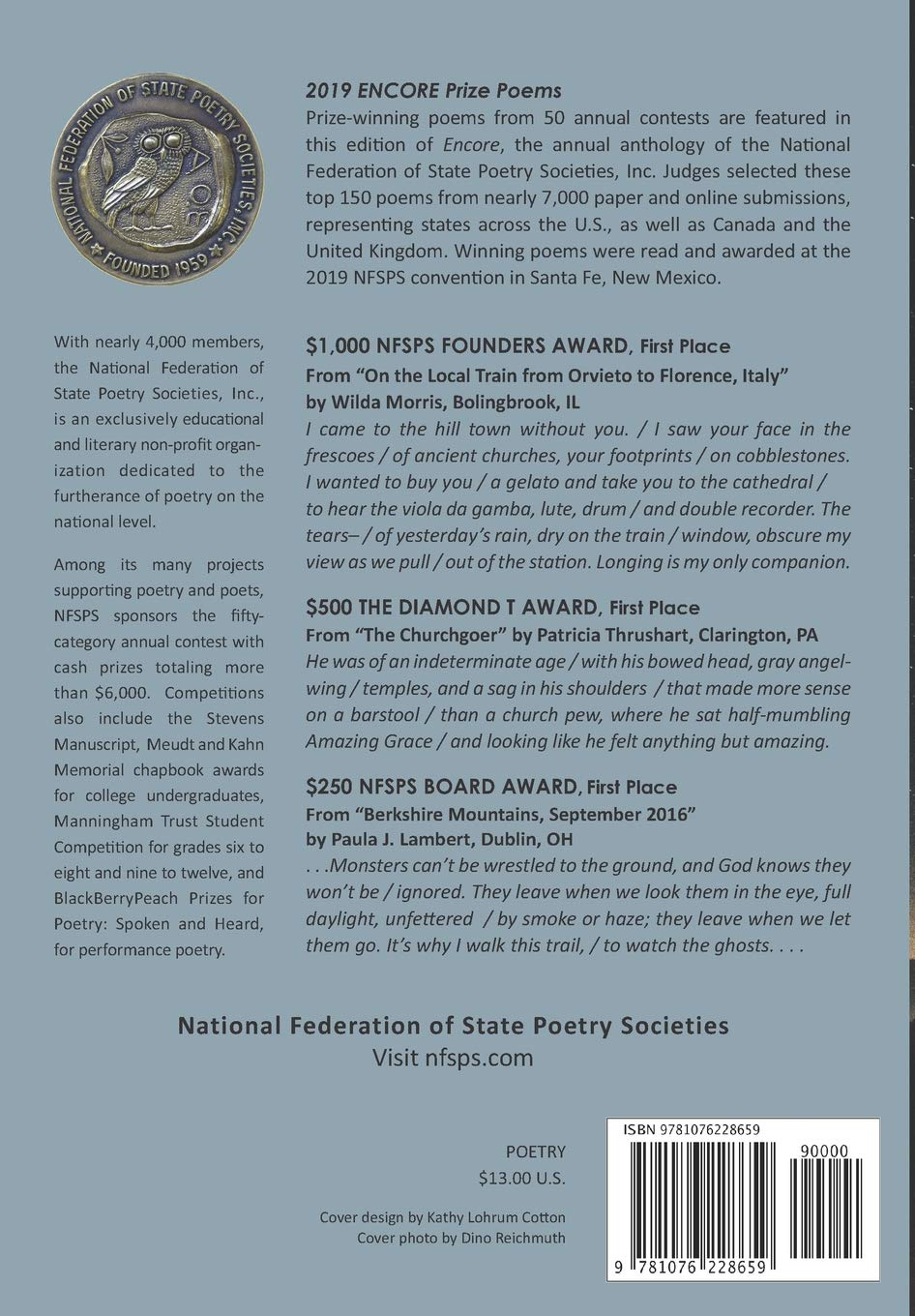 Encore Prize Poems 2019: National Federation of State Poetry