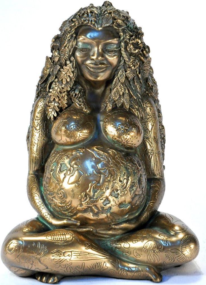 Millennial Gaia Statue - Bronze Finish by Oberon Zell