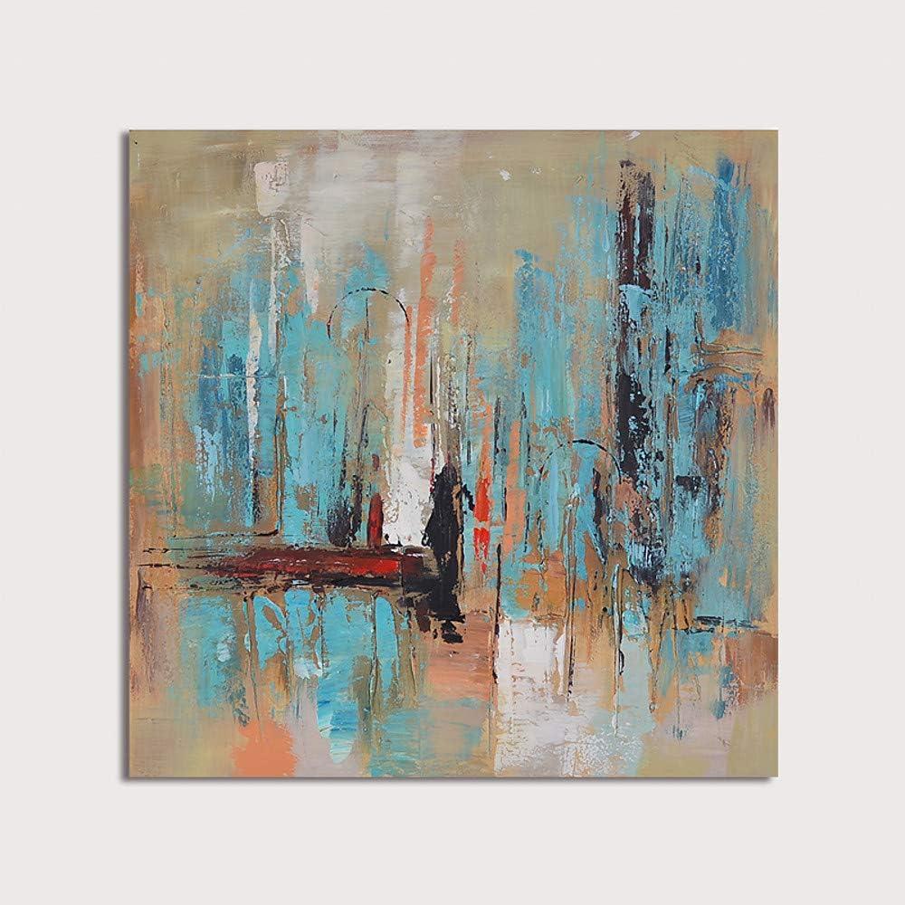HIMAmonkey 100% Pintura Al óLeo Pintado A Mano Cuadros Abstractos Modernos Arte de Pared sobre Lienzo Estirada y Enmarcado decoración Listo para Colgar,20