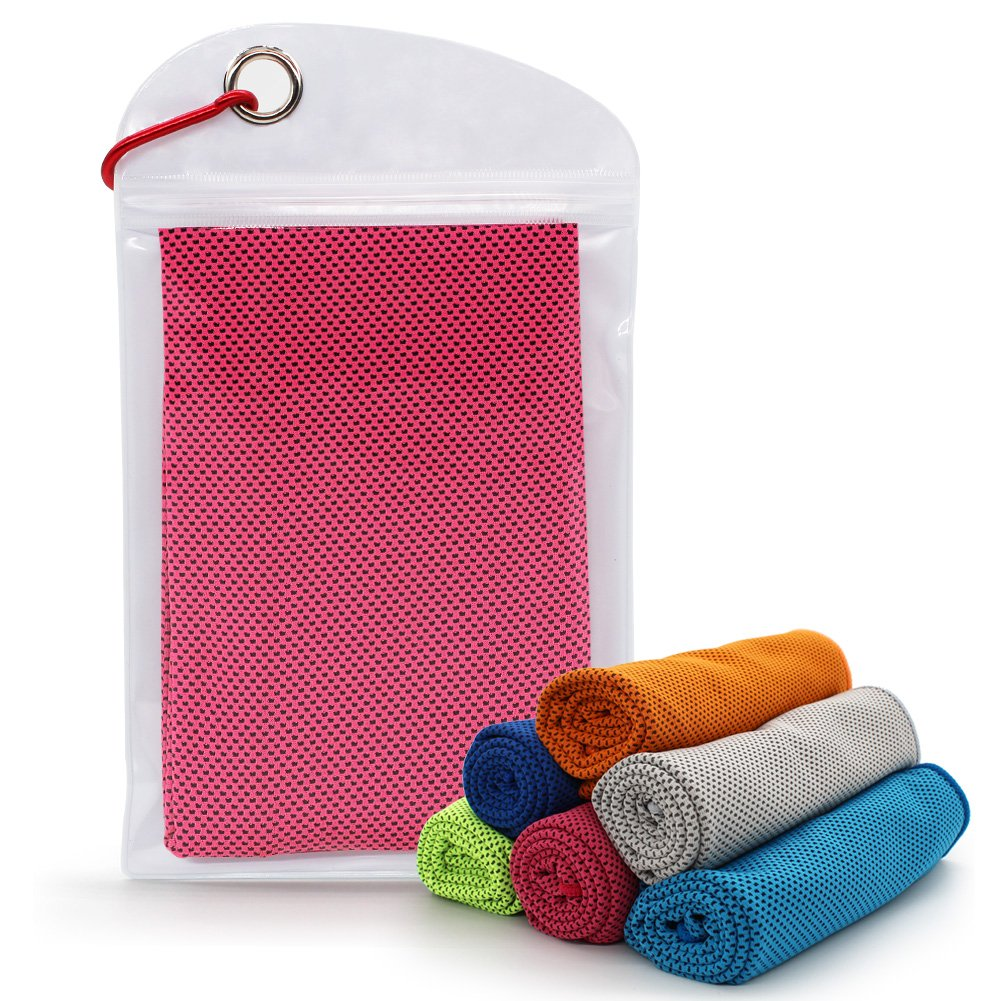 SURPRISE PIE Microfiber Cooling Towel for Sports, Workout, Fitness, Gym, Yoga, Golf,Pilates, Travel, Camping,Running & More Activities Camping & More LANQING