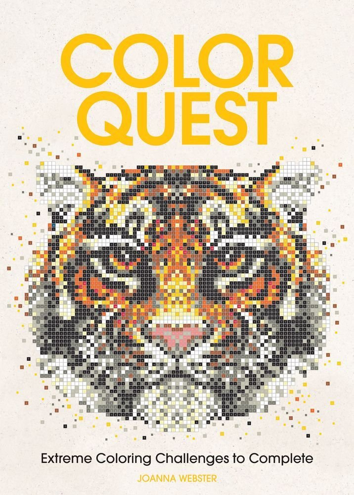 Amazon Color Quest Extreme Coloring Challenges To Complete 9781438008561 Joanna Webster Books
