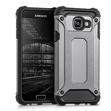 kwmobile Funda para Samsung Galaxy A3 (2016) - Carcasa híbrida de TPU con diseño Transformer en Antracita/Negro