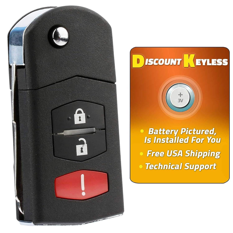 06-15 Mazda 5 BGBX1T478SKE125-01 662F-SKE12501 07-12 CX-7 For 11-15 Mazda 2 07-15 CX-9 Keyless Entry Remote Flip Key Fob SKI12501