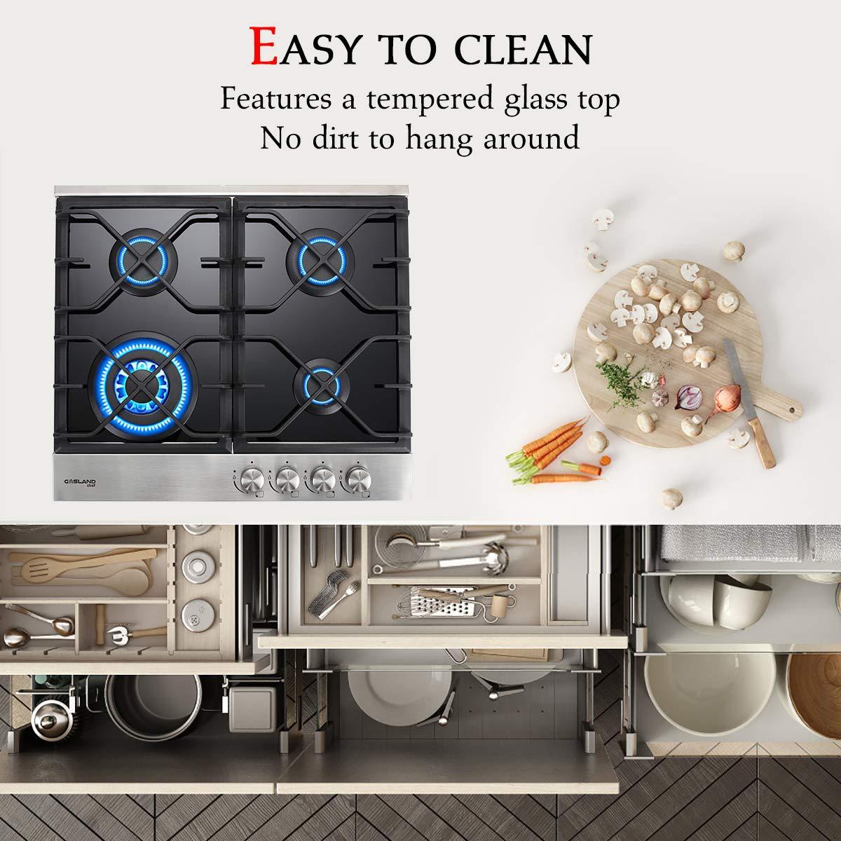 Amazon.com: Gasland Chef - Cocina de gas natural LPG de 24.0 ...