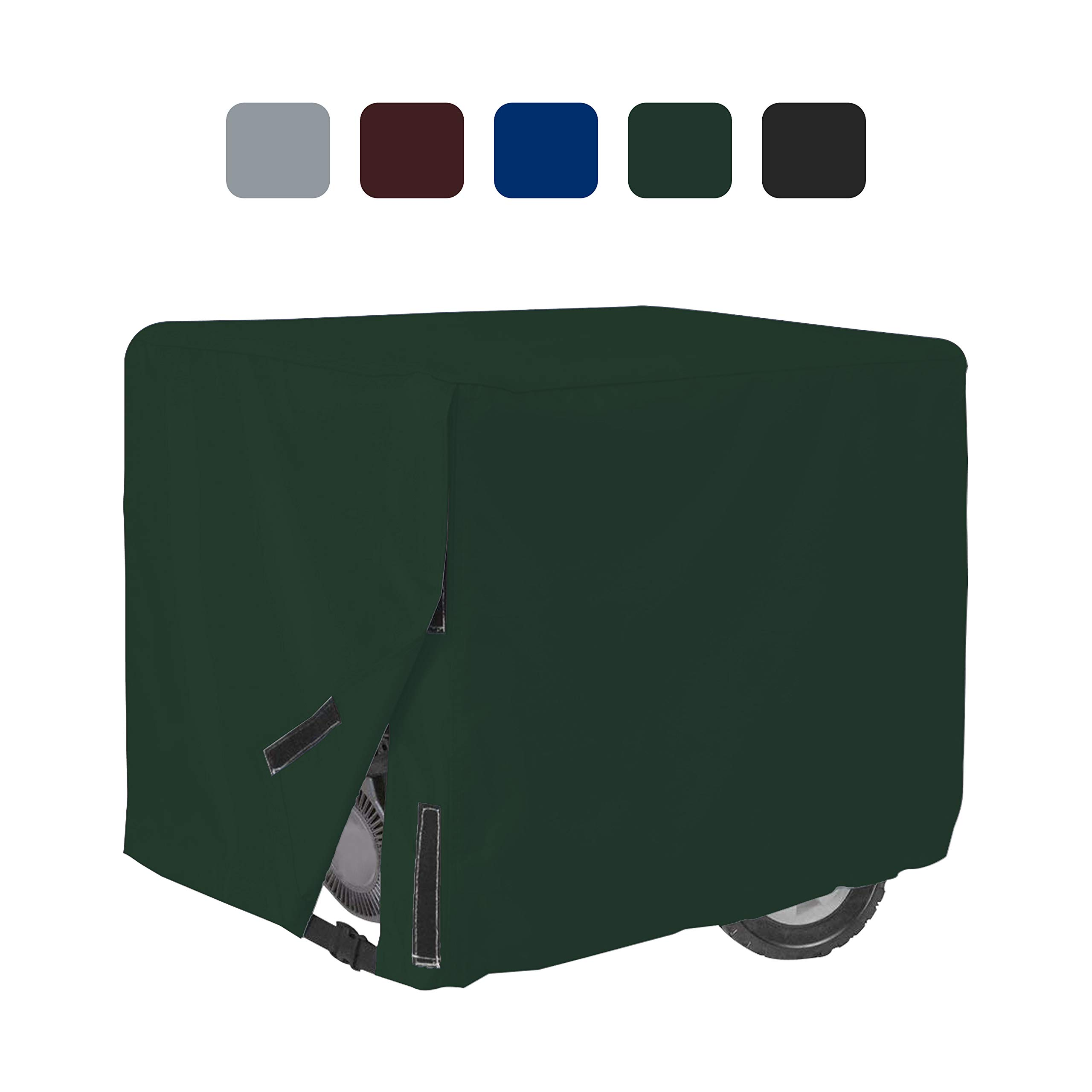 Outdoor Generator Covers 18 Oz Waterproof - 100% UV & Weather Resistant PVC Coated Generator Cover with Air Pockets and Drawstring for Sungfit (32'' X 24'' X 24'', Green)