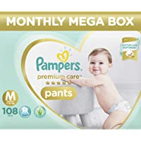 Pampers Premium Care Pants Diapers Monthly Box Pack, Medium, 108 Count