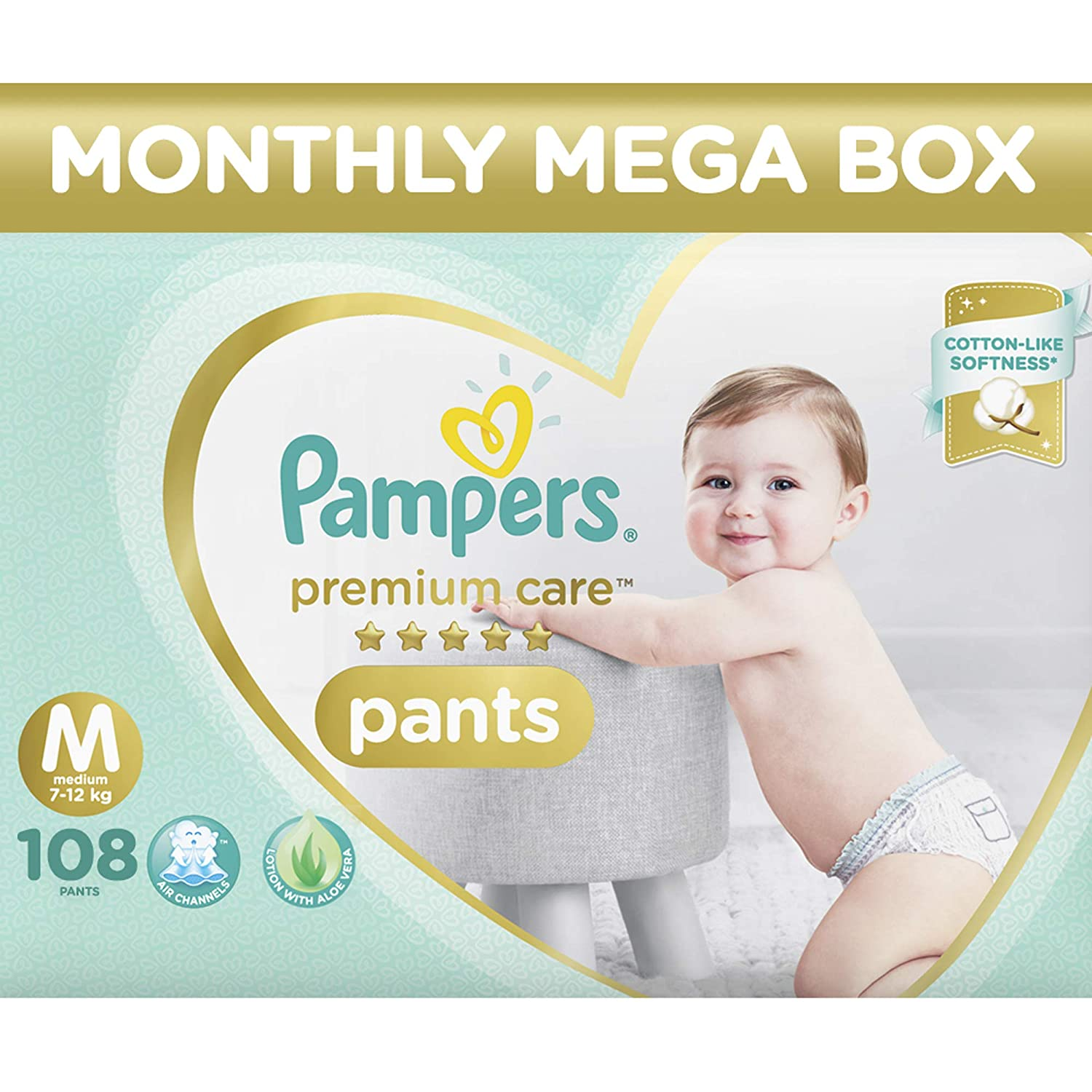 84503792e Buy pampers premium care pants diapers monthly box pack medium count online  at low prices in