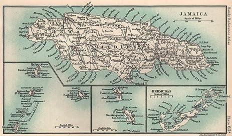 Amazon.com: British West Indies. Jamaica Bermuda. St Vincent ...