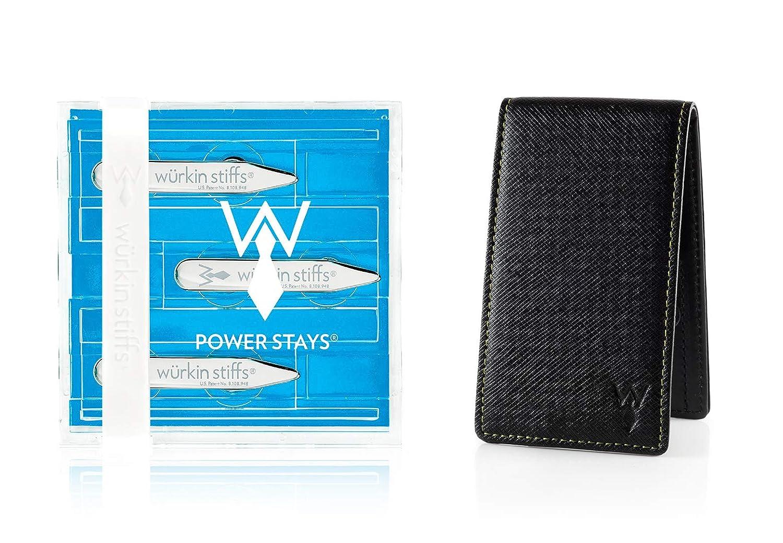 Wurkin Stiffs 2.0 Power Stays Magnetic Collar Stays With Leather Travel Case