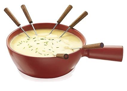 Boska Fondue Pot In Red Ceramic 33 X 10 X 23 Cm Amazonco