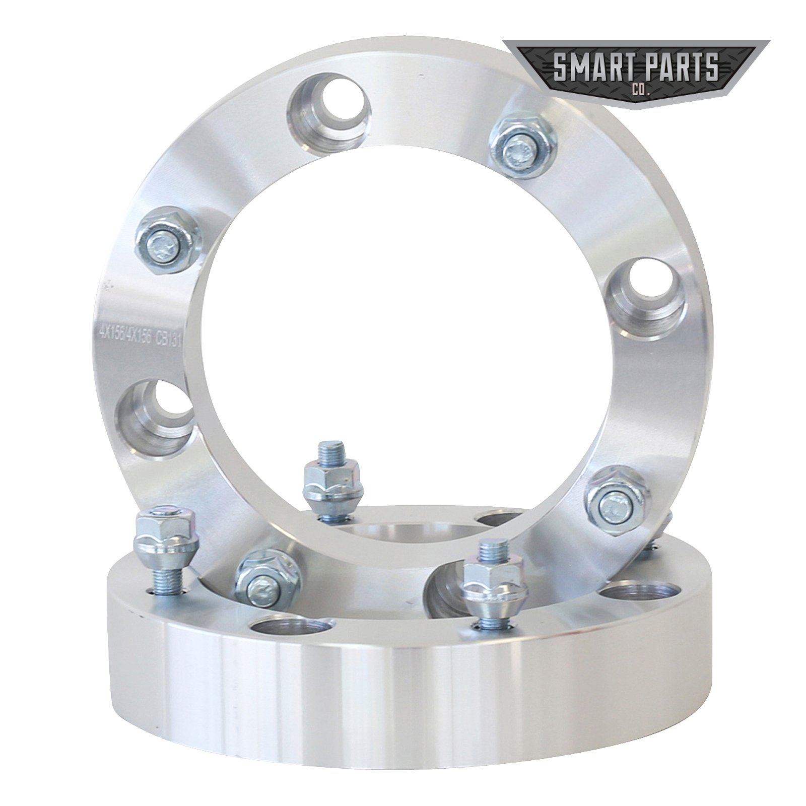 "4 ATV Wheel Spacers 4x156 – wheel spacer 1.50"" thick; I.D.=131mm; counter bore=141mm X 9.1mm deep; studs = M12x1.5 Polaris RZR Ranger by Smart Parts (Image #2)"