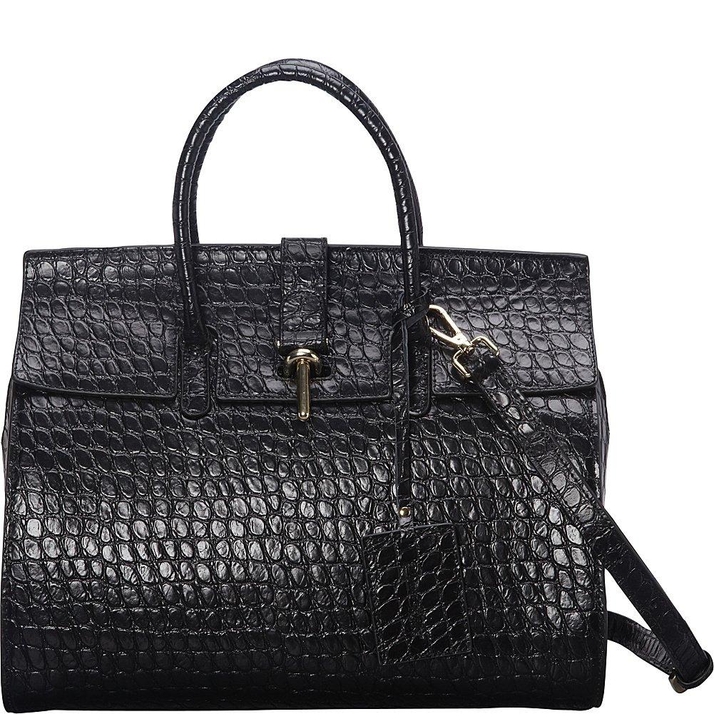 Donna Bella Designs Ginna Leather Shoulder Bag, Black