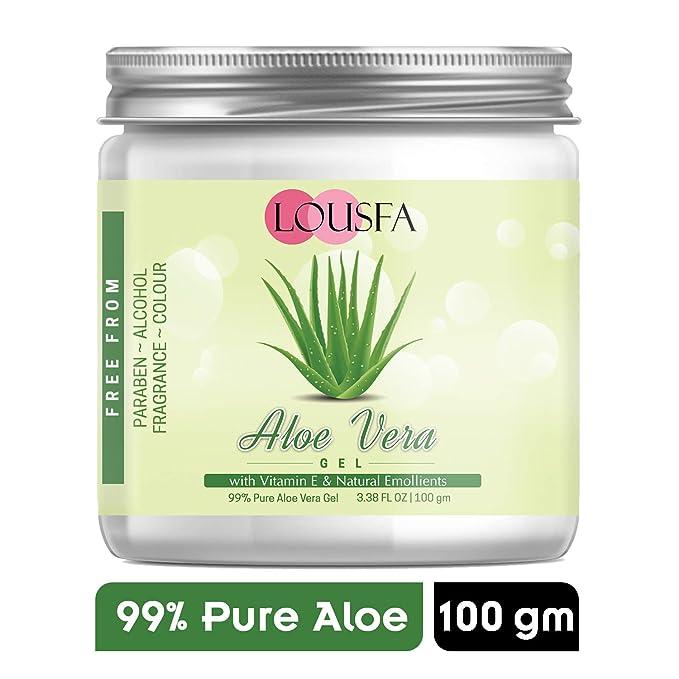 Lousfa 99% pure Crystal clear aloe vera gel 100 Gm (100)