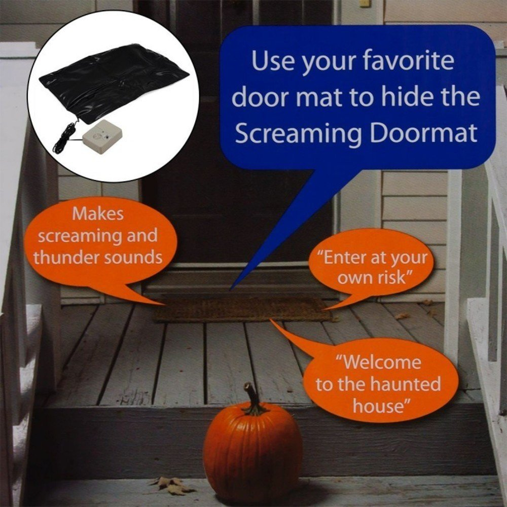 Halloween Screaming Doormat Floor Sensor Noise Touch Activated Scary Sounds B&M